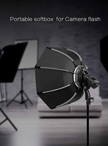 WANGYONGQI 55 cm große achteckige Schirmbox mit Griff für Flash Speedlite Studio-Fotografie-Softbox-Zubehör (Strobe Flash Licht Monolight)