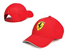 Idea Regalo - ScuderiaFerrari Cappello Ferrari Ufficiale Bambino Uomo Adulto Cappellino Berretto Scuderia Cavallino Rossa CAPFER (TG.58cm.)