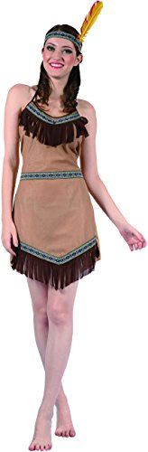 Indianerin Kostüm für Damen Einheitsgröße