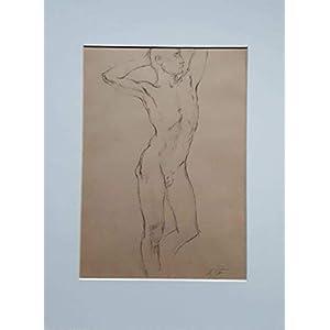 Akt Wand Bilder Bilder Büro Gemälde Bleistift auf Papier Bild auf Leinwand Handmade Bilder Exclusiv Bild Original Geschenk Papier