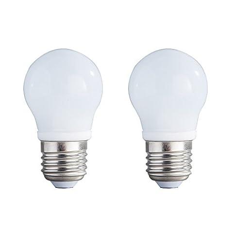 2-Pack Non-dimmable 3w (15w équivalent) Blanc 4000K LED Light A45 Ampoules E27 Base 270 degré Beam Angle