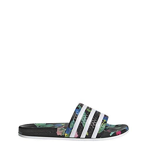 adidas Damen Adilette W Aqua Schuhe, Mehrfarbig FTWR White/Core Black Ee4853, 38 EU