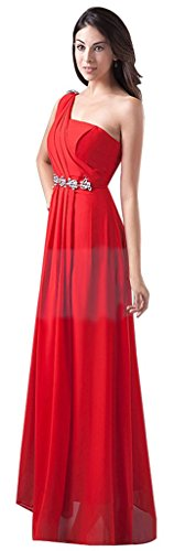 Drasawee - Robe - Asymétrique - Femme Rouge - Rot - Rot