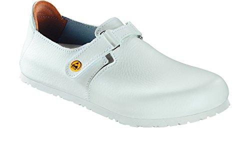 BIRKENSTOCK Unisex-Erwachsene 583150 Linz ESD Damen & Herren Clogs, Pantoletten, Sandalen weiß (White), EU 43 (Birkenstock-clog-sandale)