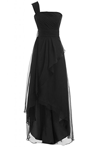 Sunvary donna Fashion A linea Chiffon Prom Gowns One, tracolla lunga sera, varie taglie Black