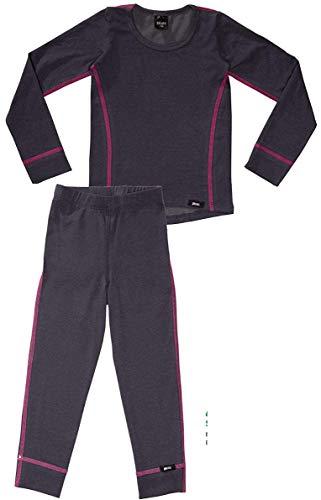 PLEAS PLEAS Thermo Unterwäsche Set für Kinder - Mädchen Thermo Funktionswäsche Skiunterwäsche (Hemd + Hose) (104)