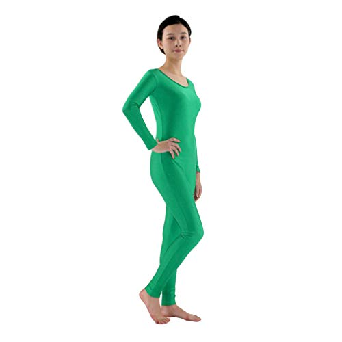 Grüne Trikot Kostüm - Hellery Zentai Ganzkörperanzug Kostüm Erwachsene Langarm
