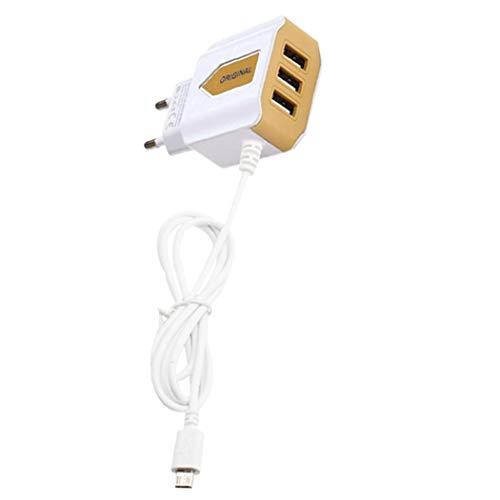 Elesoi 3 postes USB chargeur de voyage adaptateur de prise de courant UE pour téléphone portable Cartons de placement