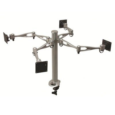 Cotytech Quad monitor Desk Mount Dual ARM con gommino base (dm-41 a3-g)