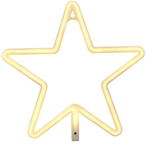 Ein Stern-wandleuchte (Northpoint LED Wandleuchte Stern Kinderzimmer Wandlicht Fensterleuchte Fensterlicht Nachtlicht Schlummerlicht Betrieb 3xAA-Batterien oder USB)