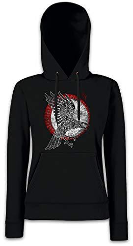 Urban Backwoods Norse Raven Damen Kapuzenpullover Hoodie XS - 2XL (Thor Hoodie)