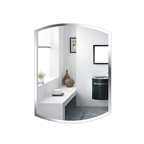 Badezimmerspiegel Bad WC Dekorativer Spiegel Wandspiegel Becken Schminkspiegel Bekleidungsgeschäft Schönheitssalon Schminkspiegel Hängender Spiegel Versuchen Sie es mit dem Spiegel,45*60CM