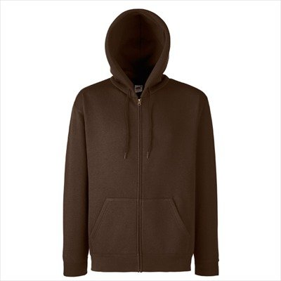 Full Zip Sweat (Fruit of the Loom - Kapuzen Sweat-Jacke 'Hooded Zip' XXL,Chocolate)