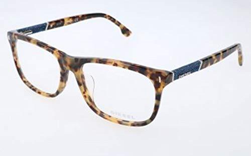 Diesel Unisex-Erwachsene DL5157 053-58-17-150 Brillengestelle, Braun, 58