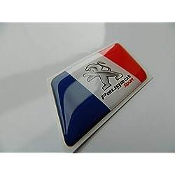 Badge Peugeot Sport avec drapeau