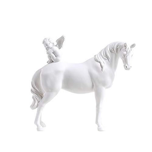 AZBYC Moderne Winkel & White Horse Wohnaccessoires, Nordic - Ornamente, Büro Artwork Wohnzimmer Handwerk