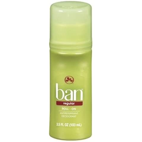 Ban Deodorant & Antiperspirant Roll-on Regular 3.5oz by Ban