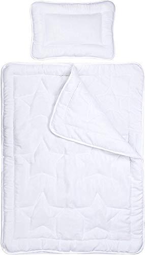Aminata Kids Baby-Bettdecke 100-x-135 Kinder, Giraffe für Kleinkinder-Bett, Mädchen, Jungen - Mikrofaser - weiß- bis 60 Grad waschbar - weich & kuschelig, waschbar, Öko-Text