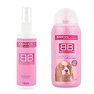 Ancol Dog Perfume and Shampoo Talc Powder Set 7