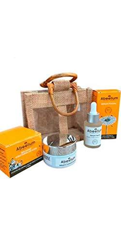 Abeelium Pack Bee Natural | Sérum Hidratante Facial y Bálsamo Contorno de Ojos para un Cuidado Facial Completo Diurno y Nocturno - Producto Natural y Ecológico | Hecho en España