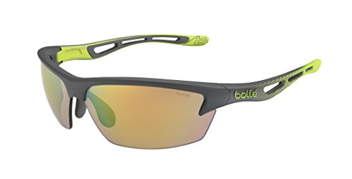 Bollé Sonnenbrille Bolt, Smoke/Lime/Brown Emerald Oleo, 12084