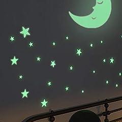 Idea Regalo - Meloive Adesivi Murali Bambini, Decorazioni Fluorescenti per un Regalo ai Bambini, Stelle Luminosa Adesive a Soffitto per Camerette o Asilo, Brillano al Buio (393pcs)