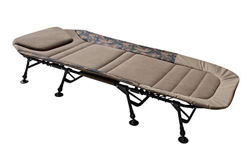 """MK-Angelsport """"Fort Knox FlatSize X-Pro Camo Bedchair Karpfenliege Gartenliege Liege 8-Bein"""