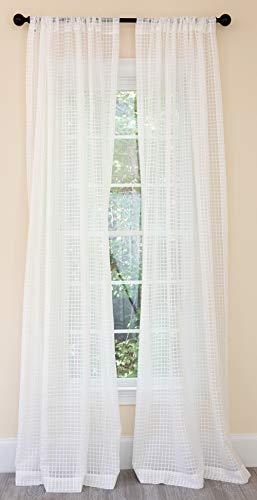 Manor Luxe Bonita Curtain,Panel,Drapes, 52''x84'', White