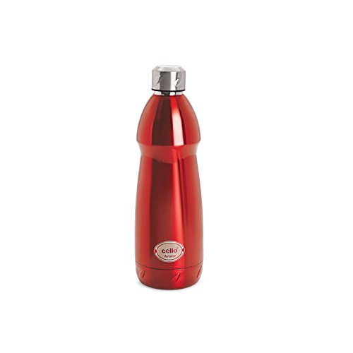 Cello Aviator Stainless Steel Bottle, 500ml, Red