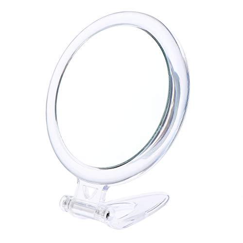 Fenteer Profi Kosmetikspiegel 10-facher Vergrößerung Schminkspiegel Reisespiegel Badspiegel Taschenspiegel Badezimmer Schlafzimmer