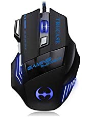 TRUCASE (TM) 3200 DPI, 7 Button LED Optical USB Wired Gaming Mouse 7 LED Colours for Pro Gamer