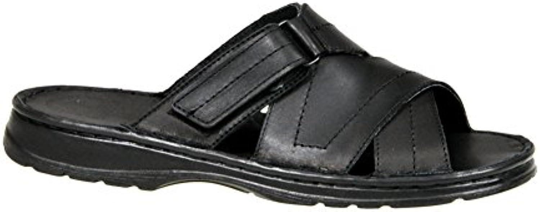 Calzado Genuina Piel Bufalo Zapatos Forma Ortopedica Comodos Sandalias Hombres Modelo 865