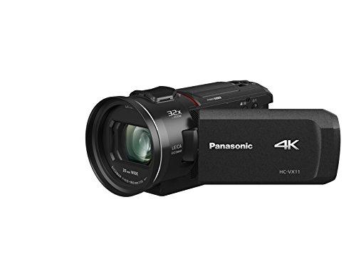 Panasonic HC-VX11EG-K 4K Camcorder (LEICA DICOMAR Objektiv mit 24x opt. Zoom, 4K und Full HD Video,  optischer Bildstabilisator)