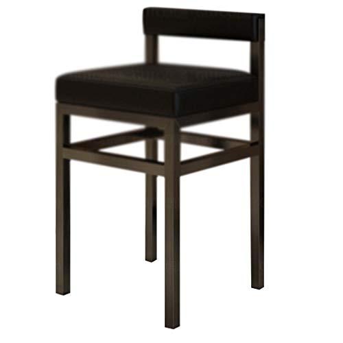 Barhocker,stühle hocker Mall Counter Hocker Rückenlehne Hohe Rezeption Schreibtisch Stuhl Brille Juwelier Kassierer Speziellen Barhocker WEIYV (Color : Black, Size : 700 * 385mm) (Brille Juweliere)