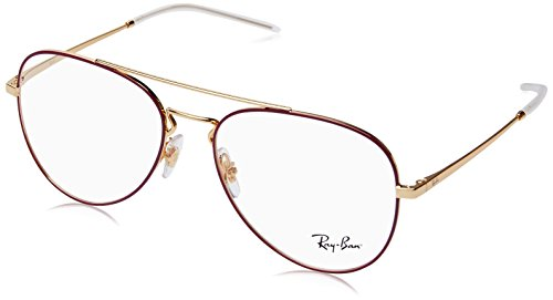 Ray-Ban Unisex-Erwachsene 0rx 6413 2982 56 Brillengestelle, Gold Top Bordeaux