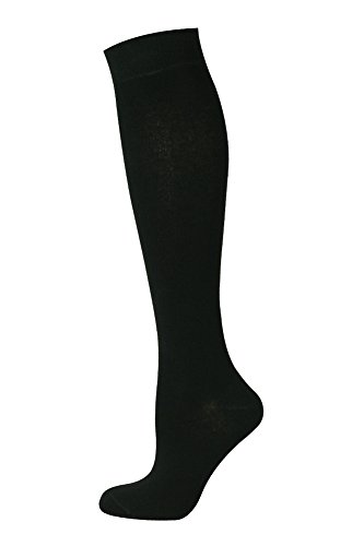 MySocks Unisex kniehohe lange Socken schwarz