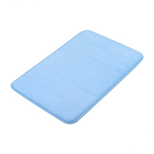 Ndier Ersatz Schaumbad Bathmat saugfähiges Bad Teppich rutschfestes blau Bodenmatten -
