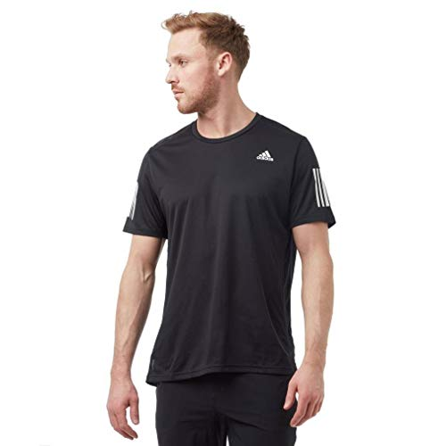 adidas Herren OWN The Run Tee T-Shirt, Black/White, S
