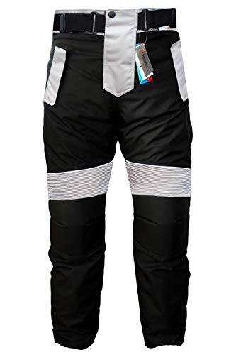 German Wear Motorradhose Cordura Textilien Motorrad Hose Kombihose, Schwarz/Grau, 50