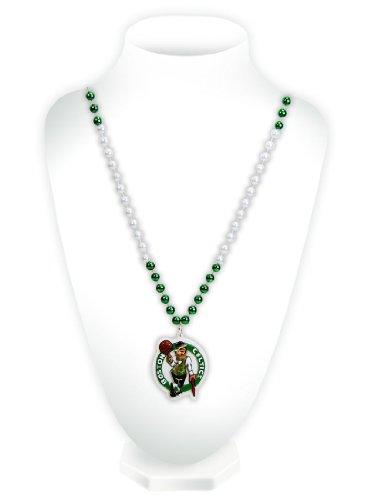 NBA Perlen mit Medaillon, unisex Herren damen, Boston-Celtics-Grün