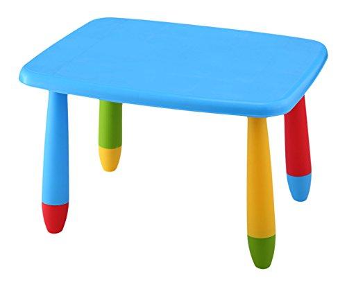 Mueblear 90043 Mesa infantil rectangular de plástico azul 73x58x48 cms