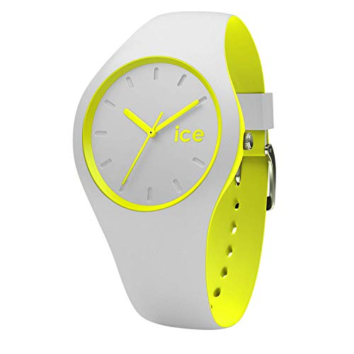 Ice-Watch - Ice Duo Grey Yellow - Graue Herrenuhr mit Silikonarmband - 001500 (Medium)