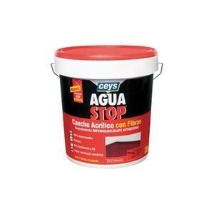 Aguastop ceys M92285 - Impermeabilizante aquastop caucho acrilico con fibras blanco 1 kg