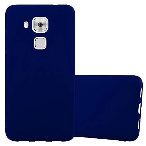 Cadorabo Hülle für Huawei Nova Plus - Hülle in Candy DUNKEL BLAU - Handyhülle aus TPU Silikon im Candy Design - Silikonhülle Schutzhülle Ultra Slim Soft Back Cover Case Bumper Blau Back Cover