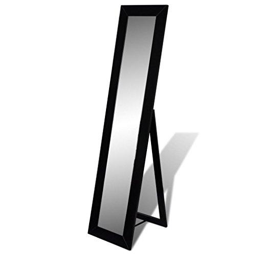 vidaXL Boden Stehend Spiegel Standspiegel Ganzkörperansicht schwarz 240582 S