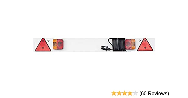 4FT 6IN TRAILER LIGHT BOARD 6M CABLE LIGHT TRAILERBOARD CARAVAN TOWING