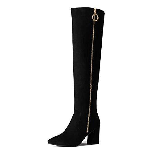Kostüm Stiefel Knie - stivali Frauenschuhe Winter Sexy Wilde Dünne Lange Hochhackige Stiefel, Hohe Stiefel Damen Stiefel Über Die Knie Stiefel,schwarz,34