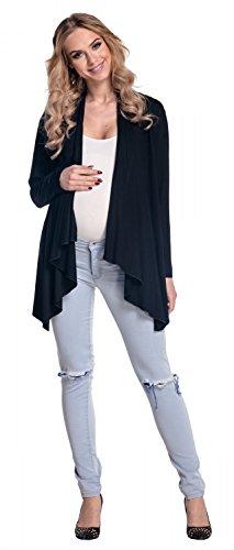 Happy Mama Femme Maternité Blazer grossesse effet cascade cardigan. 320p Noir