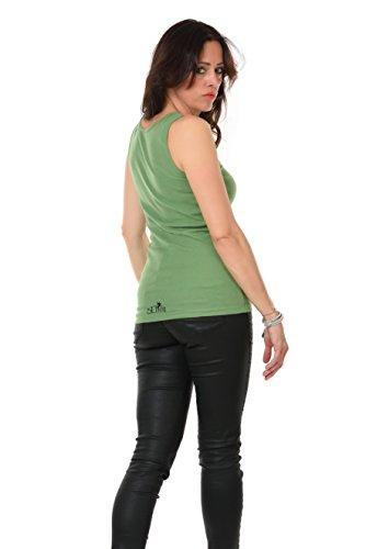 Girocollo Allentato Casuale Canotte Senza Maniche Serbatoio Migliori Camicie stampa Ragazza con uccello- Donna, da 3Elfen Verde
