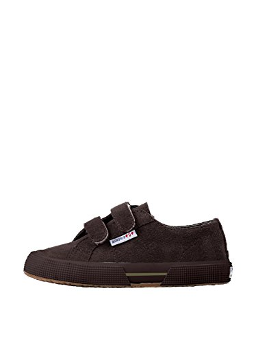 Superga 2950 Suvj Velcro, Baskets mode mixte enfant Marron (Chocolat G08)